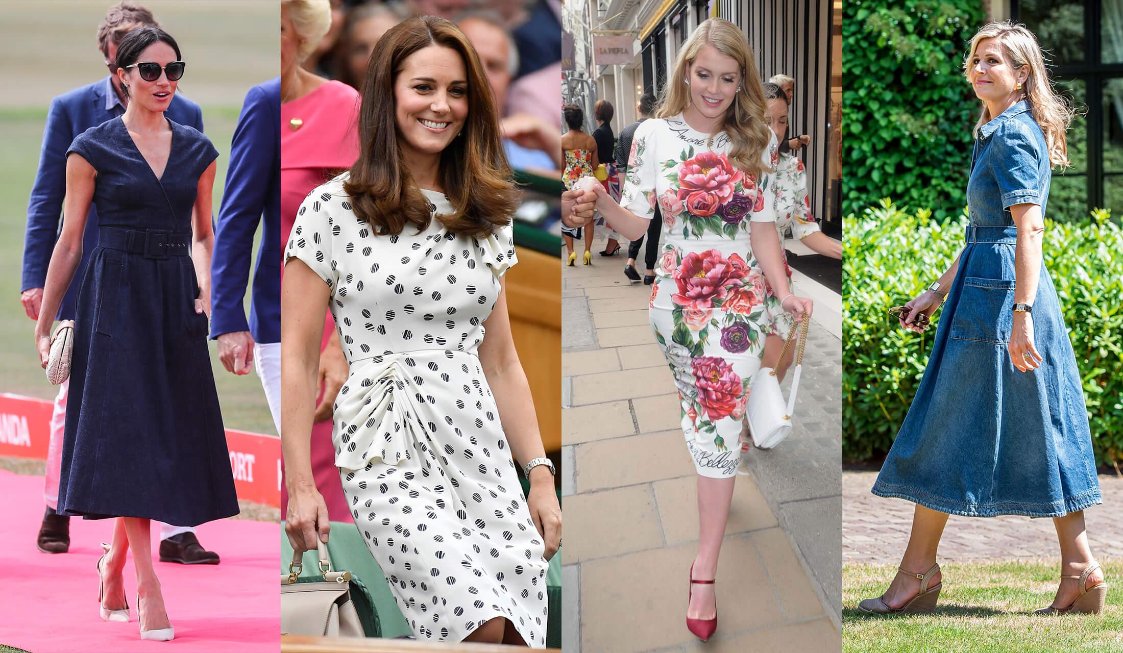 ワンピースを着こなす美人王妃たちのスナップ写真