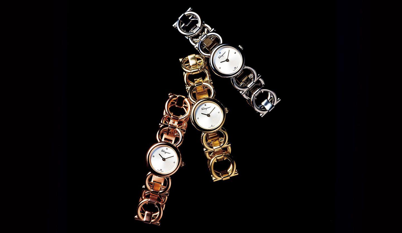 フェラガモの時計『ダブル ガンチーニ ラウンド』