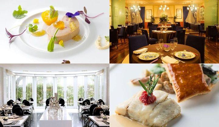 福岡のレストランの内観や料理の写真