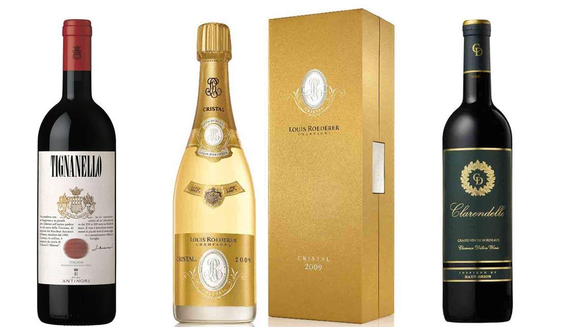 プレミアムなワインからお手軽ワインまで。上質なシャンパンも!